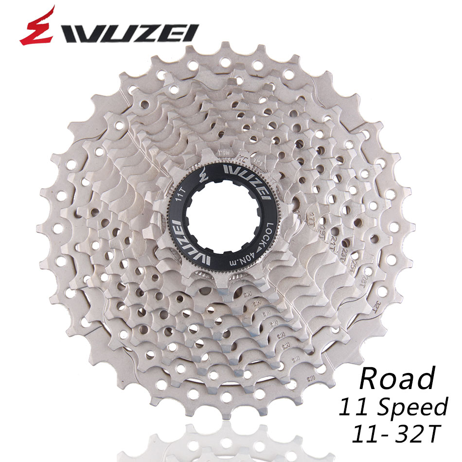 WUZEI 11S 11-32T Free Wheels Road Bicycle Flywheel Steel 11 Speed <font><b>Cassette</b></font> Sprocket 11-32T Compatible for Parts R9100 <font><b>R8000</b></font> image