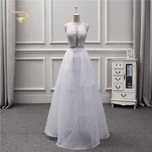 Jeanne Love 2019 Custom Made Wedding Dress Beach See Through Sexy Bridal Lace Sequins Robe De Mariage Vestido Noiva JLOV75974