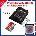 Noobs para Raspberry Pi 3 modelo B pré carregado em SanDisk 16 GB classe 10 cartão Micro SD