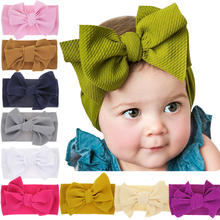 Baby Cute Elastic Headbands Kids Bow Knot Widened Hairbands Hair Accessories Popular Toddler Girls Princess Hair Bands Headwear