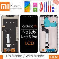 6,26 ''AAA Qualität LCD Für Xiaomi Redmi Hinweis 6 pro LCD Display Touchscreen Digitizer + Rahmen Montage Für Redmi note6 Pro + Geschenke