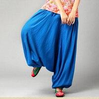 7 Kolory Kobiety Czeski Boho Gypsy Hippie Aladdin Harem Upuść Niskie Krocza Bawełniana Pościel Taniec Baggy Spodnie Spodni Luźne Dorywczo spodnie