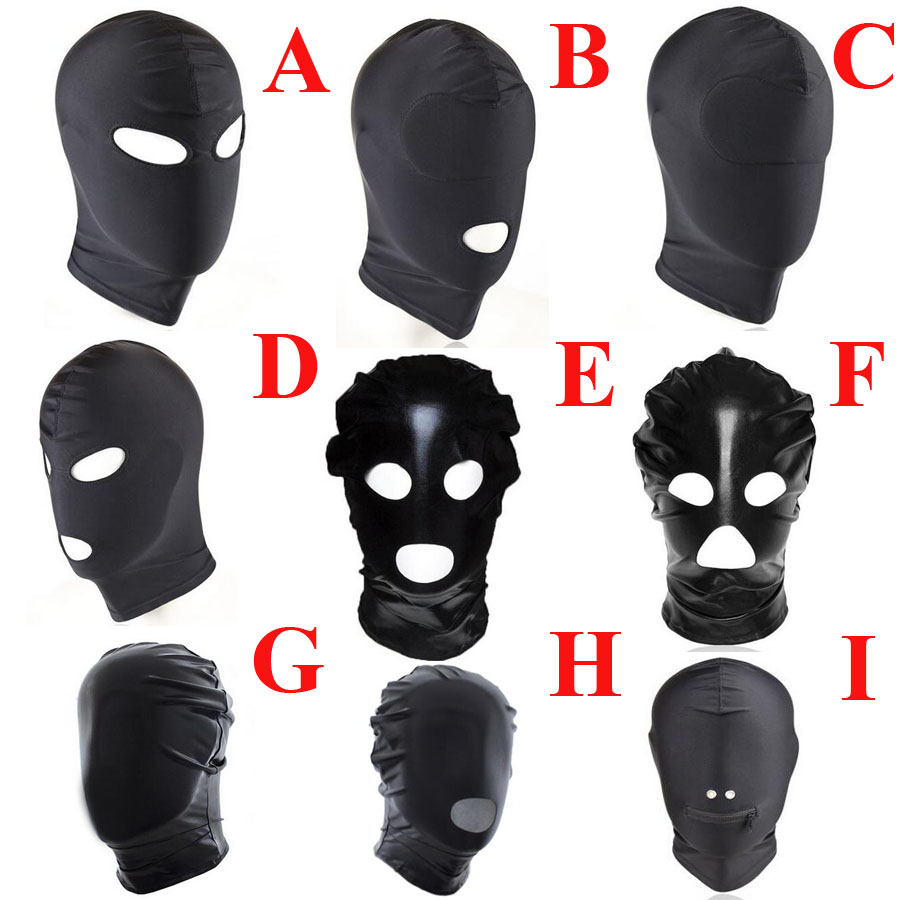 Cosplay Head Mask,Fetish Unisex BDSM Hood Mask Blindfolded,BDSM Restraints Bondage,Halloween <font><b>Adult</b></font> <font><b>Sex</b></font> <font><b>Toys</b></font> <font><b>For</b></font> <font><b>Couple</b></font> image