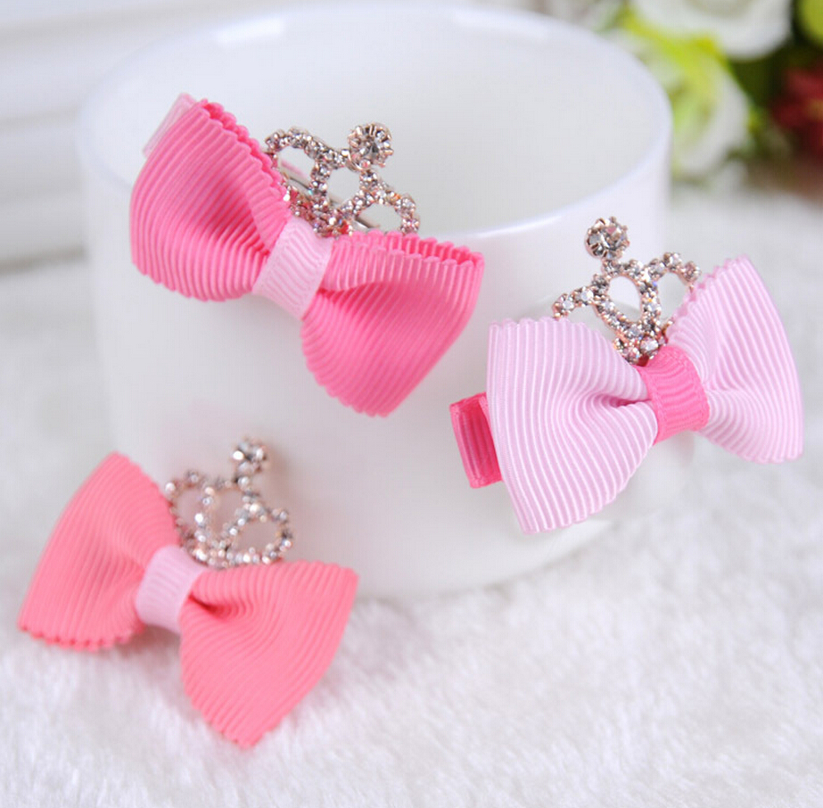 Beautiful baby hair accessories - Aliexpress Com Buy 2pcs Lot Beautiful Crown Bow Hairpins Kids Girls Fashion Hair Clips Accessories Best Gift For Girls From Reliable Hairpins Kids