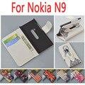 Печать Тигра Флип Бумажник Кожаный чехол Для Nokia N9 Обложка с Подставкой и Банковских Карт Слоты 7 Цветов На Складе