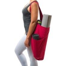 Профессиональная спортивная сумка на плечо для йоги, спортивный костюм для женщин, хлопковый холщовый коврик для хранения бутылки воды, багажные сумки для фитнеса