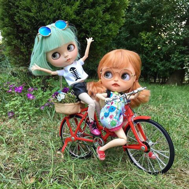 1/6 Doll Bicycle Model Doll Photo Accessories For OB11 1/6 BJD Doll Blyth Doll Soldier Doll Accessories Photo Prop Length 17.5cm