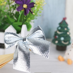 12pcs/lot cute bow Christmas decorations Christmas tree ornaments holiday family party bow decoration decorated New Year 5