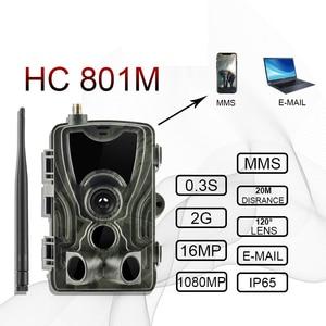 "Image 2 - HC801A HC801M ציד שביל מצלמה אינפרא אדום 2G דוא""ל MMS תמונה מלכודות SMS ראיית לילה חיות בר Gsm מצלמה de chasse infrarouge"