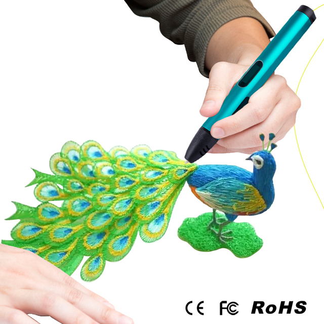 Newest USB X4 3D Pen LED Display DIY 3D Printing Pen with 3 Color PLA Filament 3d pens For Kids Drawing Toys Best Birthday Gift
