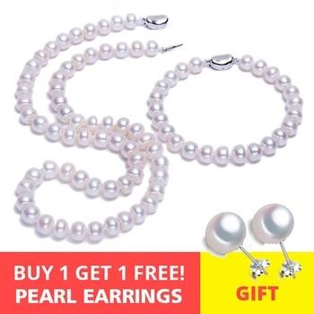 d86fb2ec1acb FENASY S925 de plata esterlina collar de perlas naturales de agua dulce para  las mujeres joyería