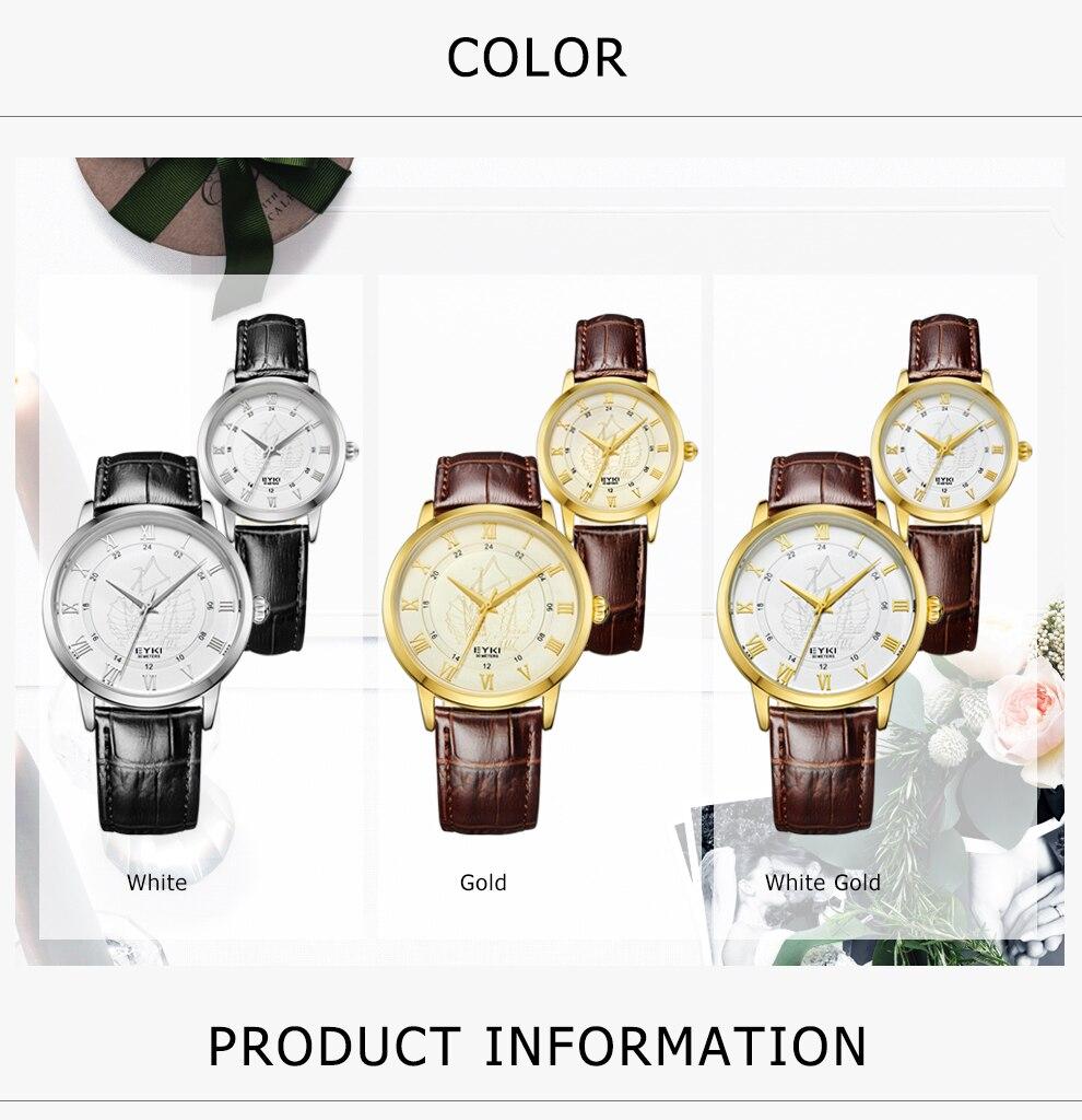 Top EYKI Super Fashion Mens Mulheres Relógio