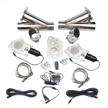 "ESPEEDER 2.0""2.25""2.5""3.0"" Exhaust Cut Out Control Cutout Stainless Steel Electric Exhaust Cutout Pipe Kit With Remote Control"
