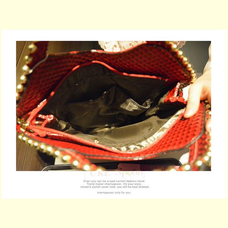 Perle Main Mode Grande ivoire Luxe argent Femmes Femme or D'épaule À Noir Capacité 2018 De Sacs Messenger Nouvelles Diamants Strass rouge q1nx8Xw7