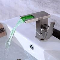 LED Faucet Water Power Bathroom Basin Sink Mixer Nickel Water Tap Faucet Basin Faucet Led bathroom tap Chrome/Nickel/black Oil