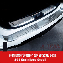 все цены на For 2014 2015 Nissan X-Trail X Trail T32 Rogue Stainless Steel Rear Bumper Protector Sill Trunk Guard Cover Trim Car Accessories онлайн