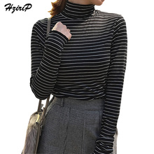 Hzirip Striped Slim Basic T Shirt Women Tee Shirt Femme Autumn Winter Bottoming Tops Long Sleeve Poleras De Mujer Moda 2017 New