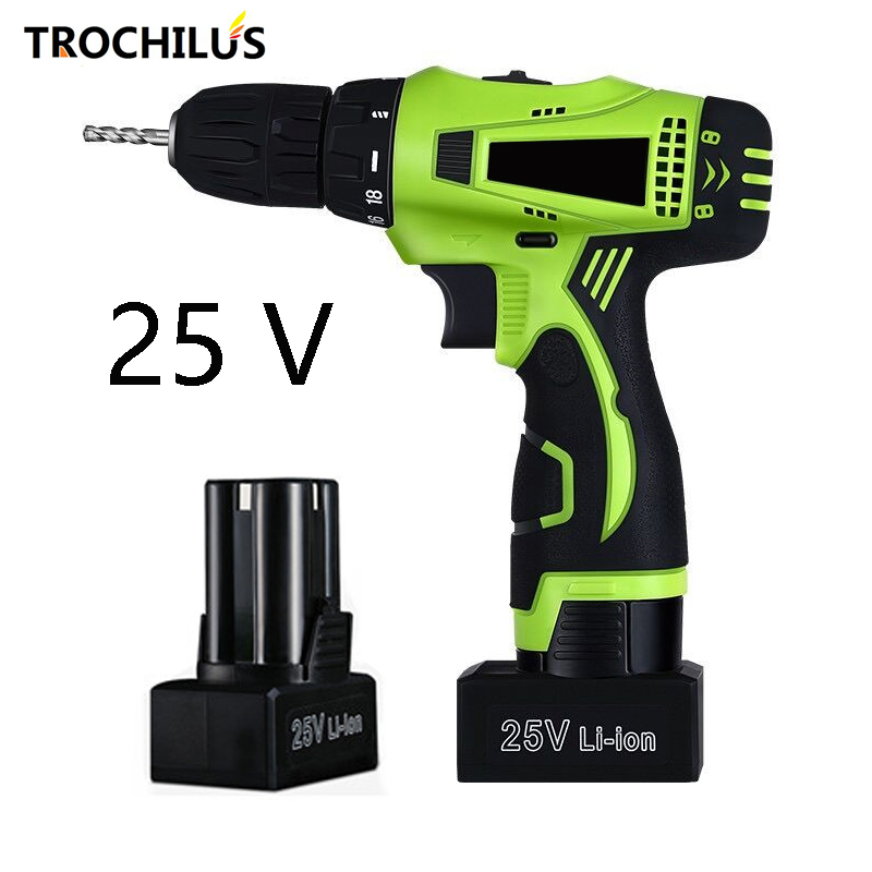 25V Multifunction Electric Tools Cordless Electric drill  Miniature Electric drill Screwdriver with Lithium Battery * 2 original tc32lx1d power supply board tnpa3071 used board good working