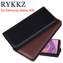 RYKKZ Luxury Leather Flip Cover For Samsung Galaxy A9s 6.3 Protective Mobile Phone Case SM-A9200