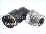 Connecteur de coude de tuyau en plastique   PL 1/2-N02 taille 1/2-1/4 à filetage NPT en forme de L raccord de coude de tuyau 90