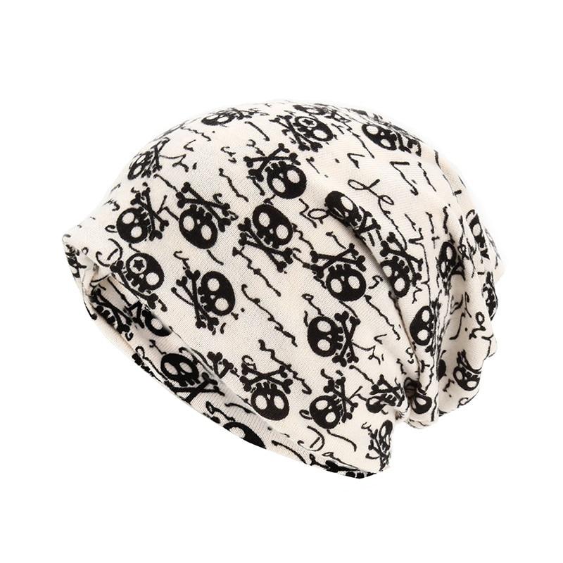 Unikevow шапки с черепом и воротничком, двухслойные многофункциональные шапки на осень и весну, шапки для женщин, мужские спортивные шапки для улицы, s - Цвет: Beige