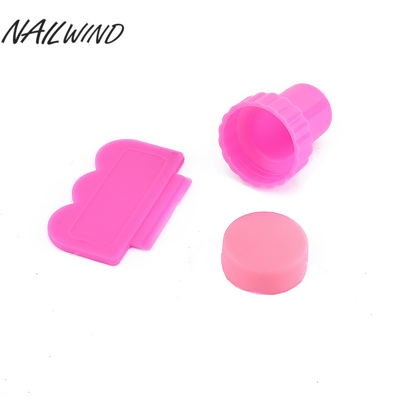 Confident Nailwind Diy Nail Art Stamper Scraper Set With Cap Transparent Nail Stamping Tool Silicone Marshmallow Nail Stamp Tools Nails Art & Tools