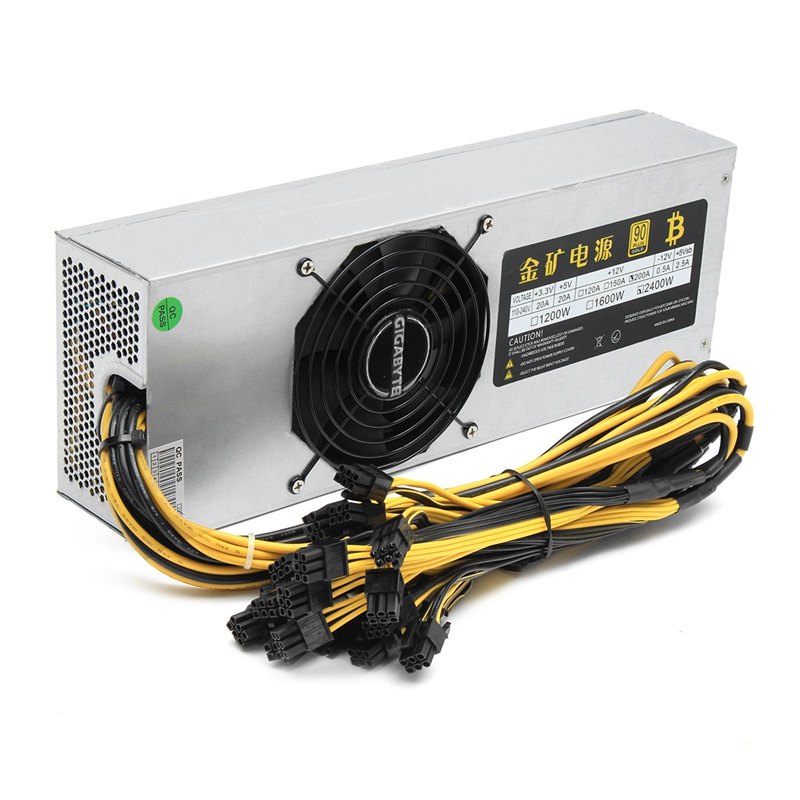 цена на 2400W Mining Power Supply 6Pin For Bitcoin Miner Eth Rig Ethereum S7 S9 For L3 For L3+ New computer power Supply For BTC