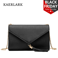 KAERLARK Brand New 2017 Fashion Women Chains Bags Girl Ladies Messenger Bags Flap Patchwork Tasse Shoulder