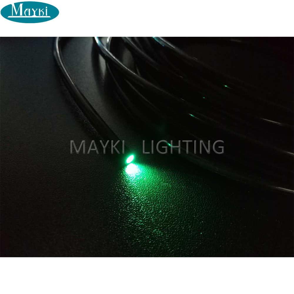 Maykit Sauna Room Lighting Using Fiber Optic Cable 500m/Roll 2.2mm Diameter Lit Fiber Optic Cable With Black Pvc Cover
