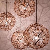 Italian designer pendant lights stainless steel diamond ball retro Creative pendant lamp Cafe Restaurant hanging light fixtures