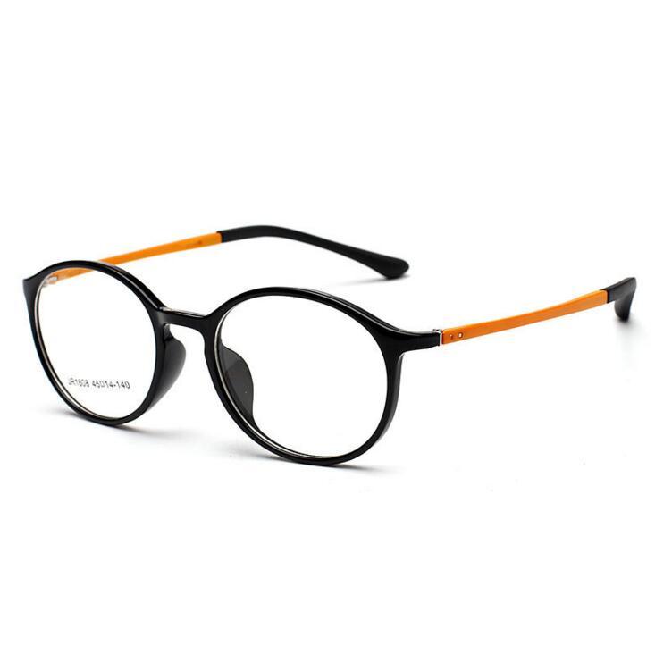 TR90 vényköteles optikai szemüvegkeretek Férfi sima tükör Ultra könnyű Tungsten Myopia szemüvegkeret oculos de grau redondo