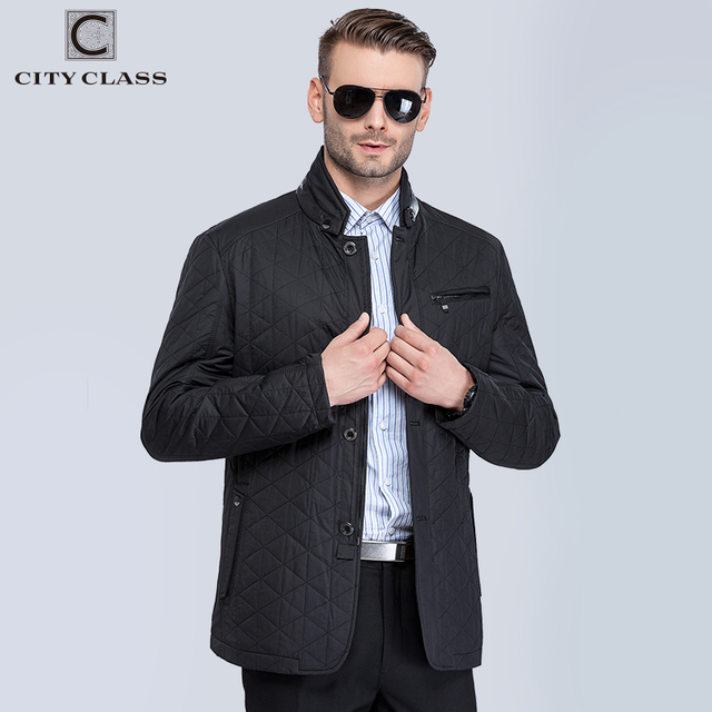 CITY CLASS New Mens Autumn Jackets And Coats Fashion Casual Slim Quilted Stand Collar Black Jackets Leather free shippment 13022