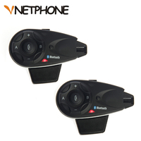 2pcs Vnetphone V5 1200M 5 Riders Bluetooth Motorcycle Helmet Intercom Interphone Headset Talk At Same Time