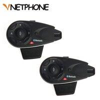 2pcs Vnetphone V5 1200M 5 Riders Bluetooth Motorcycle Helmet Intercom Interphone Headset Talk At Same Time