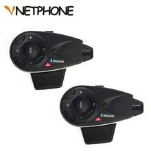 2 pcs * 5 Riders Vnetphone V5 1200 m Bluetooth Capacete Da Motocicleta Intercom Interfone Headset Falam ao mesmo tempo Sem Fio conexão