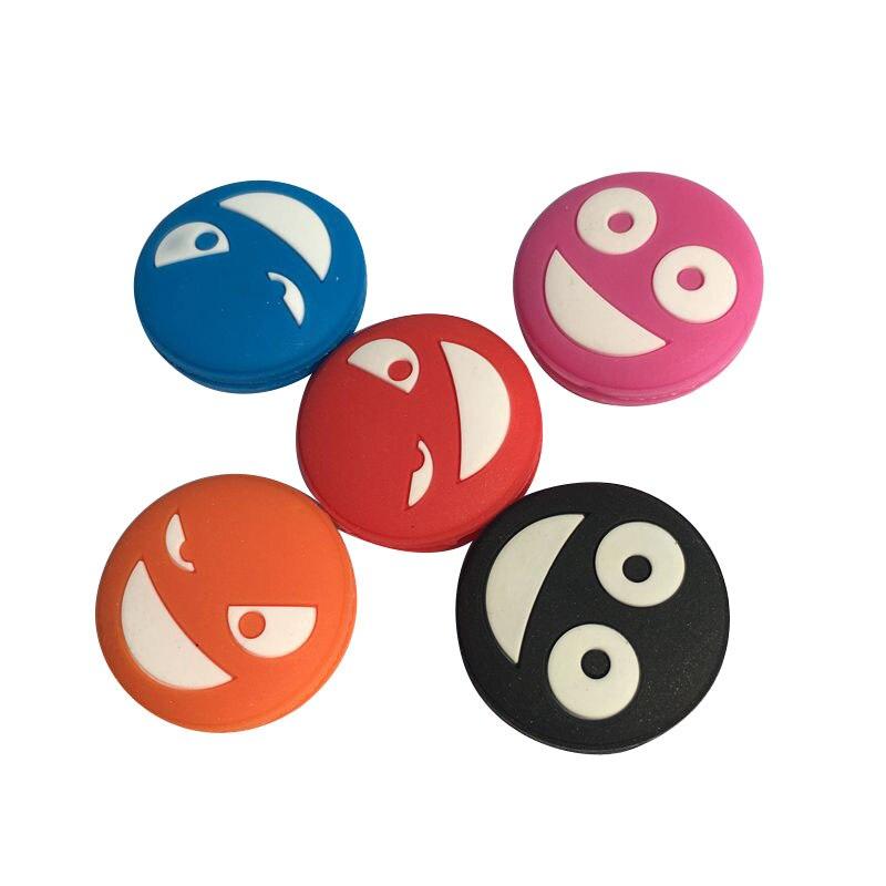10 Pcs Multicolor Grimace Tennis Shock Absorber To Reduce Tennis Racquet Vibration Dampener