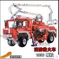 Fire Engine Truck Technic Exploiture Building Blocks 1036pcs Decool 3323 Set Model Educational DIY Bricks Kids Toy free shipping