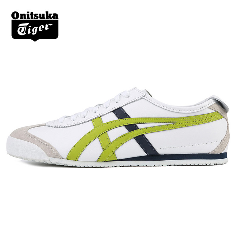 new arrival f539f e1f22 ONITSUKA TIGER MEXICO 66 Men Women White lime green Shoes ...