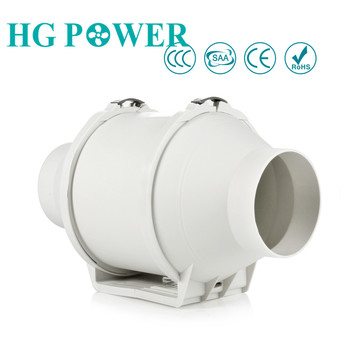 цена на 4''~5'' High Efficiency Inline Duct Fan Ventilation System Exhaust Fan Hydroponic Air Extractor Blower for Kitchen Bathroom Hood
