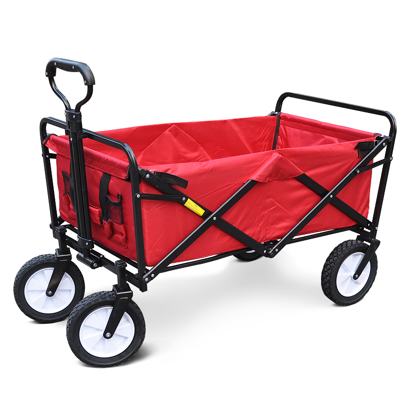 Collapsible Utility Wagon Beach Cart Shopping Cart Portable Luggage Cart for Outdoor Camping Fishing Carts Garden image