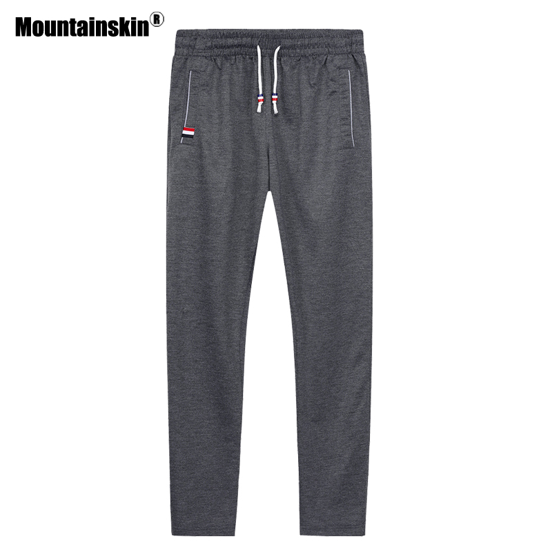 Mountainskin Spring Sportswear Mens Knit Pants Fitness Elastic Waist Sweatpant Summer Male Pant Jogger Casual Trousers 6XL SA616