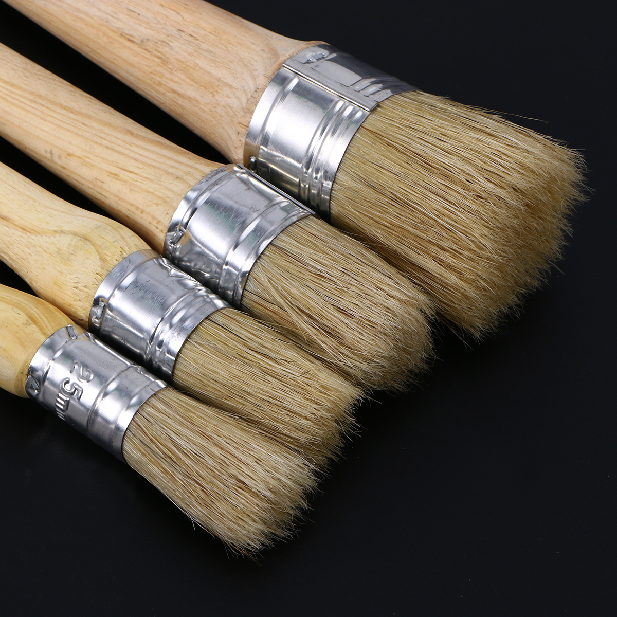 Professional 20mm Clear Soft Chalk Paint Wax Brush Painting Waxing Brushes For Furniture Stencils Folkart Home Decor Wood Shoes