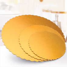 Card-Board Wedding Trays Cake-Decorating Flower Round Gold Birthday-Party 5pcs Paper-Pad