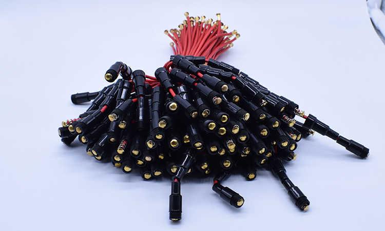 10 pz 5*20mm Vetro fuse holder Tipo di Vite 5X20mm con 22 Awg Cavo 250 V Vetro tubo del fusibile fusibile involucro
