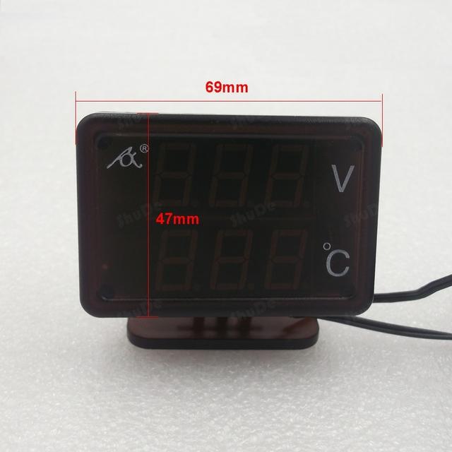 Combinación de mesa para universal coche modificado instrumento electrónico de temperatura digital del voltímetro 12 v/24 v
