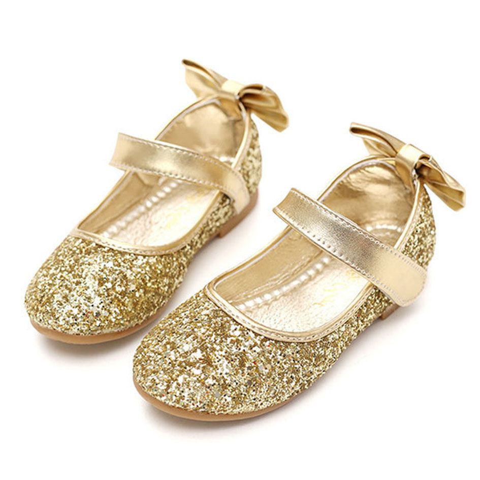 Flower Girls Shoes silver shoes