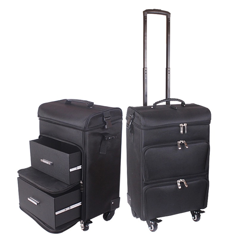 Professional women trolley makeup case large rolling luggage new cosmetic box beauty tattoo manicure toolbox multilayer