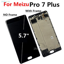 AMOLED screen For Meizu Pro 7 Plus Lcd Screen Display Touch Screen with Frame Digitizer Assembly For Meizu Pro7 plus LCD for meizu mx4 lcd screen display with touch digitizer frame assembly free shipping black 100