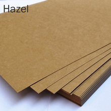 New Style Solid A4 Size DIY Postcard Kraft Vintage Paper Blank Greeting Card Home Office School Writing Papers Message Cards