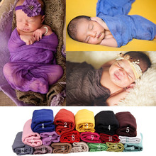 Newborn Baby Photography Props Background Blanket Cloth Solid Color Infant Baby Photo Swaddling Padding Wraps 180cm Length